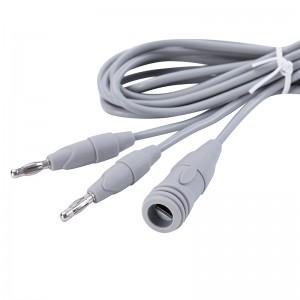EURO reutilizable pinzas bipolares cable